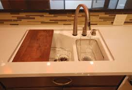 Kohler Executive Chef Sink Stainless Steel by Moen Touch2o Faucet In Stainless With Kohler Indio Sink In White