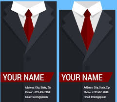 Creative suit with business cards vector set 09 Vector Card free