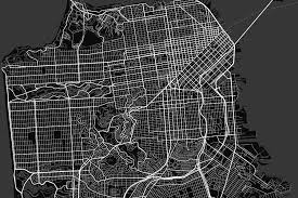San Francisco Map Black And White