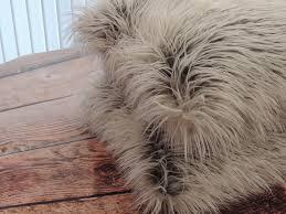 Pier One Decorative Pillows by Custom Llama Fur Ivory Grey Faux Fur 18 X 18 In Decorative Pillow