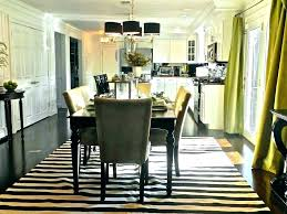 Round Dining Table Rug Room Rugs Area Kitchen For Guide