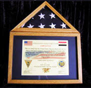 Flag And Certificate Display Case Photo