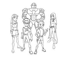 Epic Teen Titans Coloring Pages 13 In For Adults With