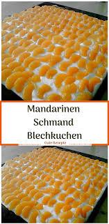 mandarinen schmand blechkuchen kuchen mandarinen