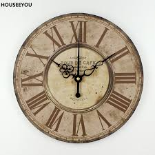 wohnkultur stumm quarzuhr wanduhr retro römischen ziffern große wanduhren esszimmer wohnzimmer dekorative uhren orologi da parete
