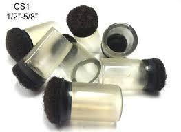 black mop expanded cs1 1 2 5 8 clear sleeve floor protectors