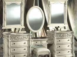 Waterfall Vanity Dresser Set by Vintage Vanity With Round Mirror Home Design Ideas Dreamplan