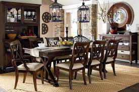 Rustic Dining Room Furniture With Unique Lantern Pendant