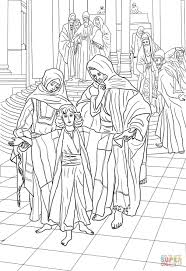 12 Year Old Jesus Found In The Temple Coloring Page Free Printable Teaching
