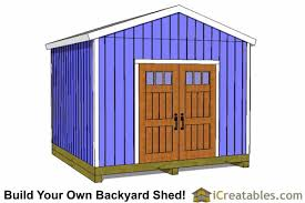 12x12 shed plans build your own storage lean to or garage shed