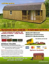 Tuff Shed Weekender Cabin by Derksen Portable Side Lofted Barn Cabin Portable Cabin