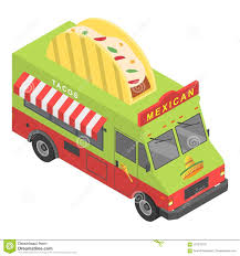 Mexican Food Truck Icon, Isometric Style Stock Vector - Illustration ...
