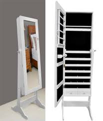 Mirrored Jewelry Box Armoire by Contemporary Dressing Room With Full Length Stand Cheval Storage