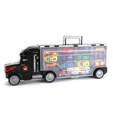 100 Semi Truck Toy Details About Transport Car Carrier With 9 Cars Kids Birthday Christmas NE Gift