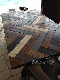 Diy Wooden Table Top by Best 25 Herringbone Headboard Ideas On Pinterest Wood Walls