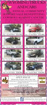 Annual Community Support Sale Benefitting Comboys Against Cancer ... Cgrulations Graduates Wyoming Trucks And Cars Rock Springs Wy I80 Big Accident Involved Many Trucks Cars Youtube Sxsw 2018 Wyomings Plan To Connect Semi Reduce Traffic Brower Brothers Nissan A New Used Vehicle Dealer In I80 Multi Truck Car Accident 4162015 Dubois Towing Recovery Service Bulls Yepthose Are Used Trucks Sheridan Obsessing About Semitruck Crushes Cop Cruiser Viral Video Fox News Fileheart Mountain Relocation Center Heart Sleet Bull Wagons Pinterest Peterbilt Rigs