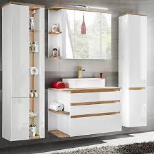 badezimmermöbel set mit keramik waschtisch cos 56 hochglanz weiß m