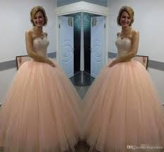 blush pink sweet 16 quinceanera dresses 2017 new design apricot