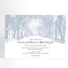 Winter Wedding Invitation With Trees