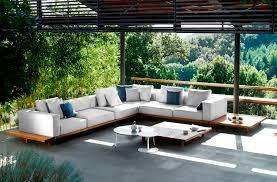 Awesome Modern Teak Outdoor Furniture Decorating Front Yard Landscaping