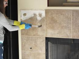Tile Removal Crew by Anythingology Fireplace Remodel 1 How To Do Drywall Repair