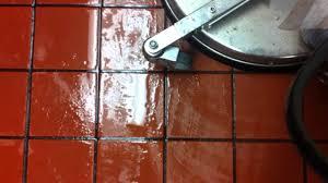 restaurant kitchen floor grout cleaning