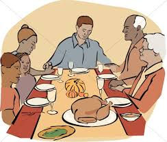 Turkey Platter Clipart · African American Family at Thanksgiving