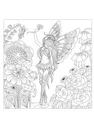 Coloring Pages Adults Flowers Queen By Bimdeedee Flower