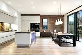 Kitchen And Dining Room Layouts Contemporary Open Plan Design With Large Black Table