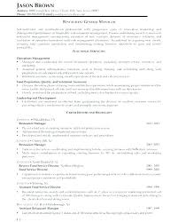 Sample Resume For Restaurant Store Manager Packed With