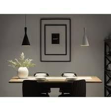 hängeleuchte weiß metall mit schirm in kegelform skandinavischer stil für kücheninsel wohn und esszimmer