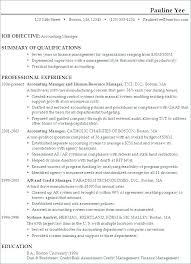 Resume Overview Samples Summary Of Qualifications Sample Manager Greatest Examples Profile For Highschool Students