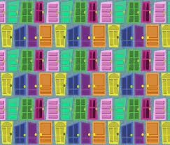 Door Monsters Inc Inspired fabric lanrete58 Spoonflower