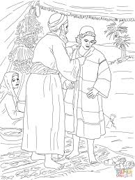 Jacob Giving Joseph The Coat Of Many Colors Coloring Page Best