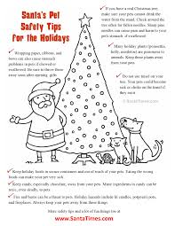 Are Christmas Trees Poisonous To Dogs by Santa U0027s Christmas Pet Safety Coloring Page Here Are Some Helpful