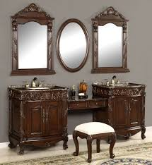double bathroom vanity with makeup area bathroom decoration
