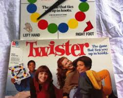 Vintage Twister Game Milton Bradley 1980s