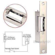 DC 12V Electric Strike Door Lock Narrow Type European Style NO