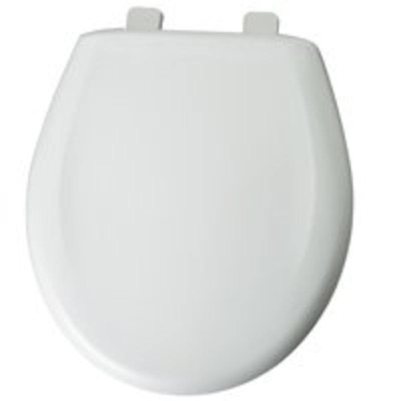 Mayfair 20C 000 Plastic Toilet Seat with Top-Tite Hinges - White
