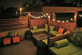Decorative Outdoor String Lights Deck
