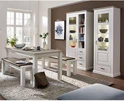 lomadox esszimmer set im landhaus stil mit 2 vitrinen