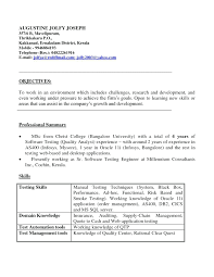 Sample Resume Of Manual Tester New Software Testing Format For Experienced Inspirational Samples 7 Years Experience Create My