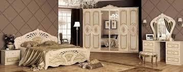 schlafzimmer set beige gold 2