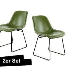 stuhl grün 2er set industrial loft design leder optik esszimmerstuhl ebay