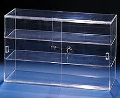 Shelf Display Cases Made Of Plastic Or Wood And Glass