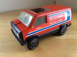 VINTAGE PRESSED STEEL TONKA Truck Van - Orange A.J. Foyt Racing Team ...
