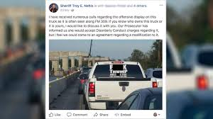 Driver Of Truck With Obscene Anti-Trump Decal Arrested Day After ... 20 Reasons Why Diesel Trucks Are The Worst Eventing Nation Three Man Who Found Is Hunter Shirt Unable To Find Recruiting Station Painted Chrome Blems Blackwhat Do You Guys Think Dodge Vehicle Wraps Edmton Graphics Signkore Just A Car Guy 10 Years Of Toyota Truck Evolution From An Ordinary The Ground Guys Fleet Wrap Agency Ever Noticed Variety Tacoma Trd Stickers Attn Truck Ownstickers In Rear Window Or Not Mtbrcom 998 Kyosho Dante77 Showroom Ultima Outlaw Runner Decal Weve Got Covered Richland Ms Decals Vs Brains 24hourcampfire