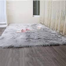 hy shaggy lammfell teppich flauschiger kunstfell schaffell lammfellimitat carpet faux bettvorleger fell sofa matte für wohnzimmer schlafzimmmer