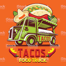 Food Truck Taco Mexican Fast Delivery Service Vector Icon Stock ...