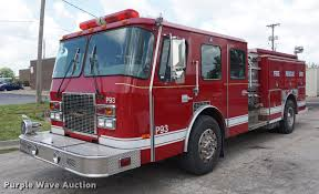 100 Emergency Truck 1998 One Pumper Fire Truck Item DD7845 SOLD A